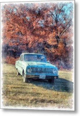 The Old Ford On The Side Of The Road Metal Print by Edward Fielding