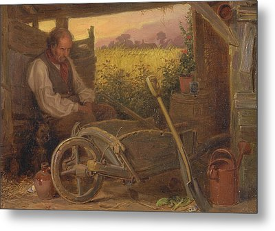 The Old Gardener Metal Print by Briton Riviere