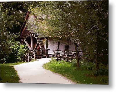 The Old Grist Mill Metal Print by Elaine Plesser
