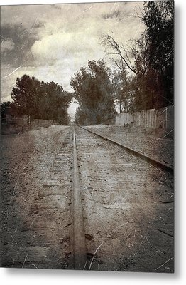 The Old Railroad Tracks Metal Print by Glenn McCarthy Art and Photography