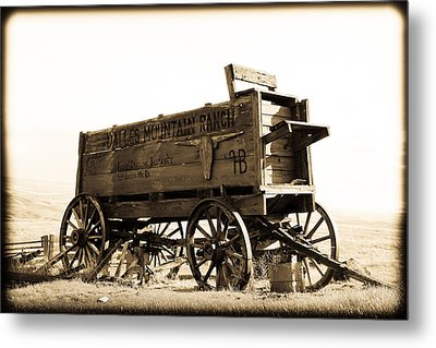 The Old Wagon Metal Print by Steve McKinzie