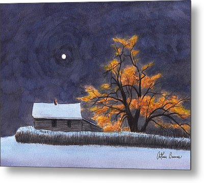 The Old Willow Metal Print by Arthur Barnes
