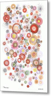 The Orbits Of Joy Metal Print by Regina Valluzzi