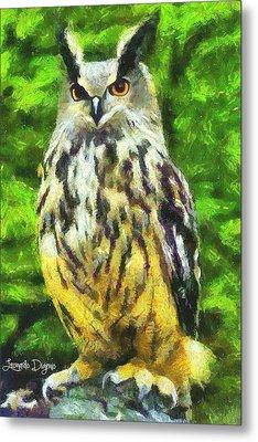 The Owl - Da Metal Print by Leonardo Digenio