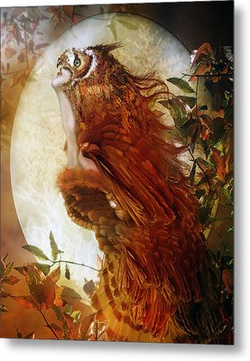 The Owl Metal Print by Mary Hood