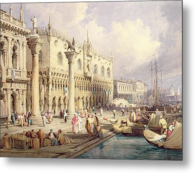 The Palaces Of Venice Metal Print by Samuel Prout
