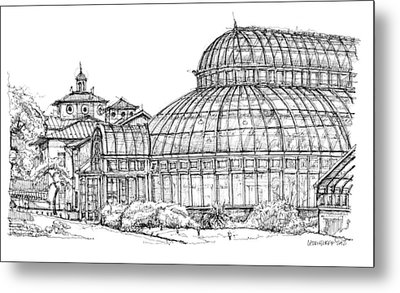 The Palm House In Brooklyn  Metal Print by Building  Art