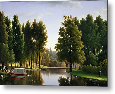 The Park At Mortefontaine Metal Print by Jean Bidauld