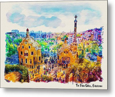 Park Guell Barcelona Metal Print by Marian Voicu