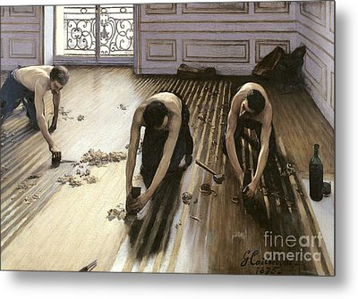 The Parquet Planers Metal Print by Gustave Caillebotte