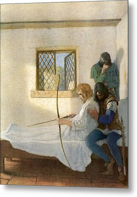The Passing Of Robin Hood Metal Print by Newell Convers Wyeth