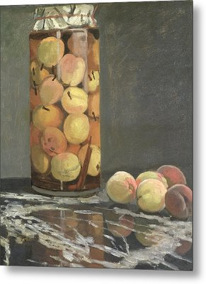 The Peach Glass Metal Print by Claude Monet