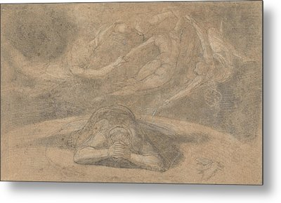 The Peasant's Dream Paradise Lost Book 1 Metal Print by Henry Fuseli