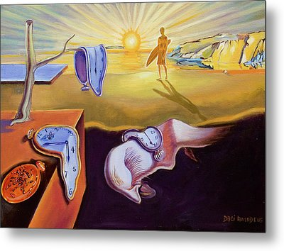 The Persistence Of Memory-amadeus Series  Metal Print by Dominique Amendola
