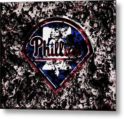 The Philadelphia Phillies Metal Print by Brian Reaves