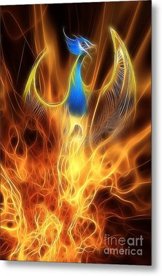 The Phoenix Rises From The Ashes Metal Print by John Edwards