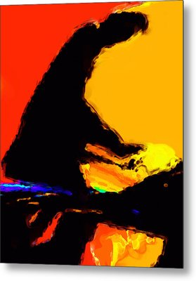 The Pianist Metal Print by Richard Rizzo