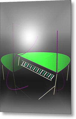 The Piano Metal Print by John Krakora