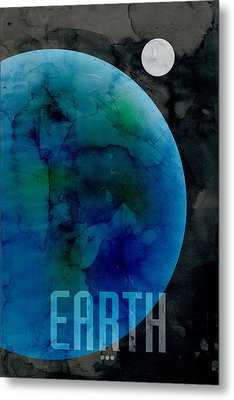 The Planet Earth Metal Print by Michael Tompsett