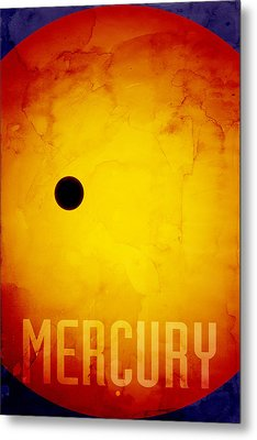 The Planet Mercury Metal Print by Michael Tompsett