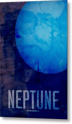 The Planet Neptune Metal Print by Michael Tompsett