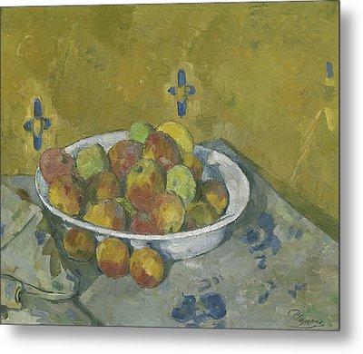 The Plate Of Apples Metal Print by Paul Cezanne