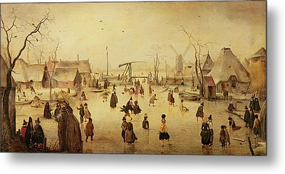 The Pleasures Of Winter Metal Print by Hendrik Avercamp