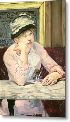 The Plum Metal Print by Edouard Manet