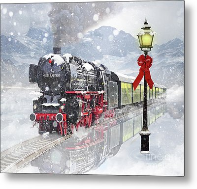The Polar Express Metal Print by Juli Scalzi