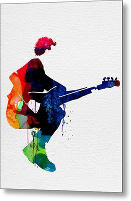The Police Watercolor Metal Print by Naxart Studio