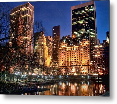 The Pond At Central Park Metal Print by June Marie Sobrito