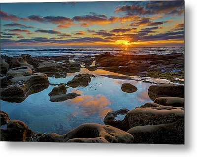 The Pool Metal Print by Peter Tellone