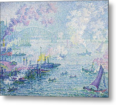 The Port Of Rotterdam Metal Print by Paul Signac