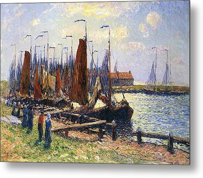 The Port Of Volendam Metal Print by Henry Moret