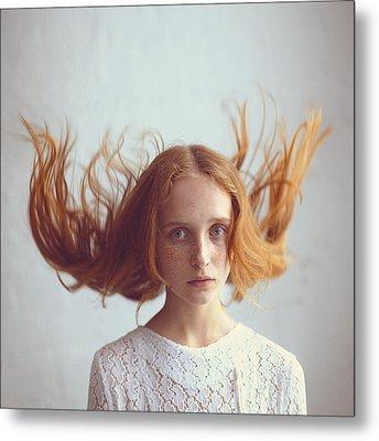 the portrait of Olga Metal Print by Anka Zhuravleva