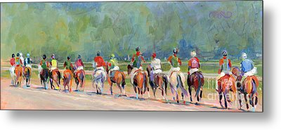 The Post Parade Metal Print by Kimberly Santini