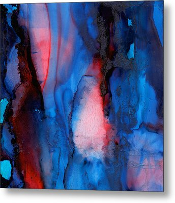 The Potential Within - Squared 2 - Tryptich Metal Print by Michelle Wrighton