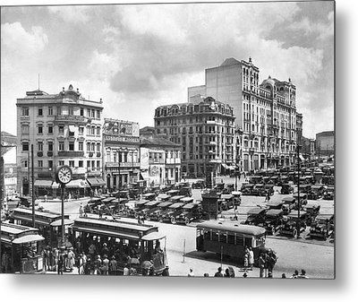 The Praca Da Se In Sao Paulo Metal Print by Underwood Archives