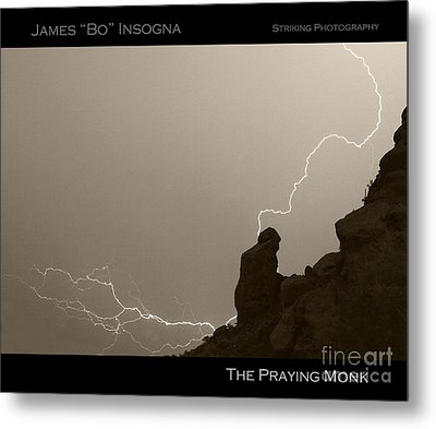 The Praying Monk Camelback Mountain Metal Print by James BO  Insogna
