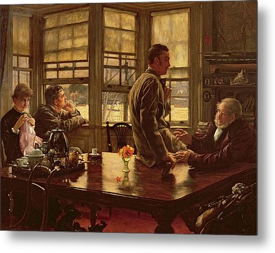 The Prodigal Son In Modern Life  The Departure Metal Print by James Jacques Joseph Tissot