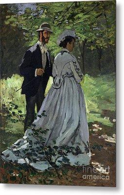 The Promenaders Metal Print by Claude Monet