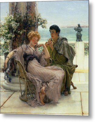The Proposal Metal Print by Sir Lawrence Alma Tadema