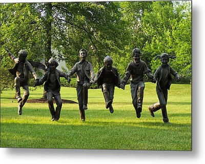 The Puddle Jumpers At Byers Choice Metal Print by Trish Tritz