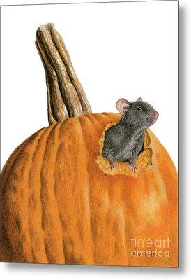 The Pumpkin Carver Metal Print by Sarah Batalka