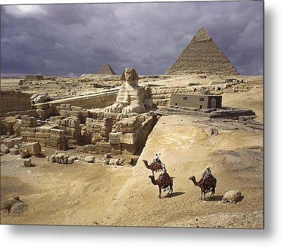 The Pyramids Of Giza And The Great Metal Print by B. Anthony Stewart