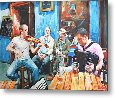The Quay Players Metal Print by Conor McGuire