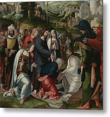The Raising Of Lazarus Metal Print by Aertgen Claesz van Leyden