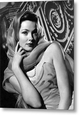 The Razors Edge, Gene Tierney, 1946 Metal Print by Everett