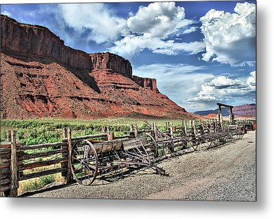 The Red Cliffs Metal Print by Gregory Ballos