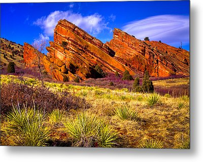 The Red Rock Park Vi Metal Print by David Patterson